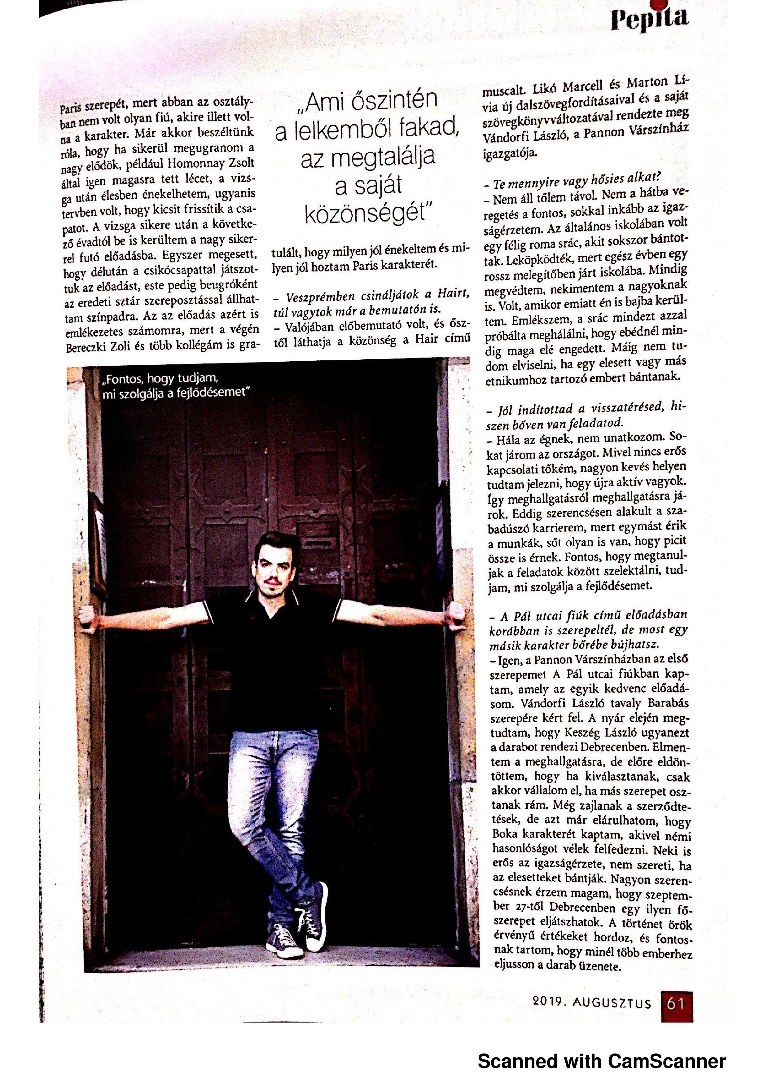 Pepita interjú - 2019.08 - 3. oldal